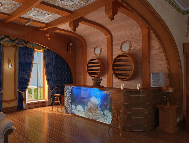 Гостиная в морском стиле: примеры создания нового интерьера после отпуска (40 фото)