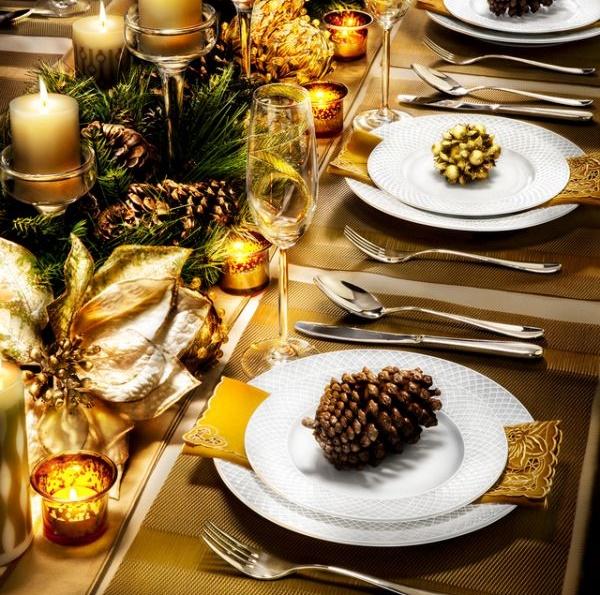 Оригинальное украшение стола к Новому году 2018 (МК +95 фото)