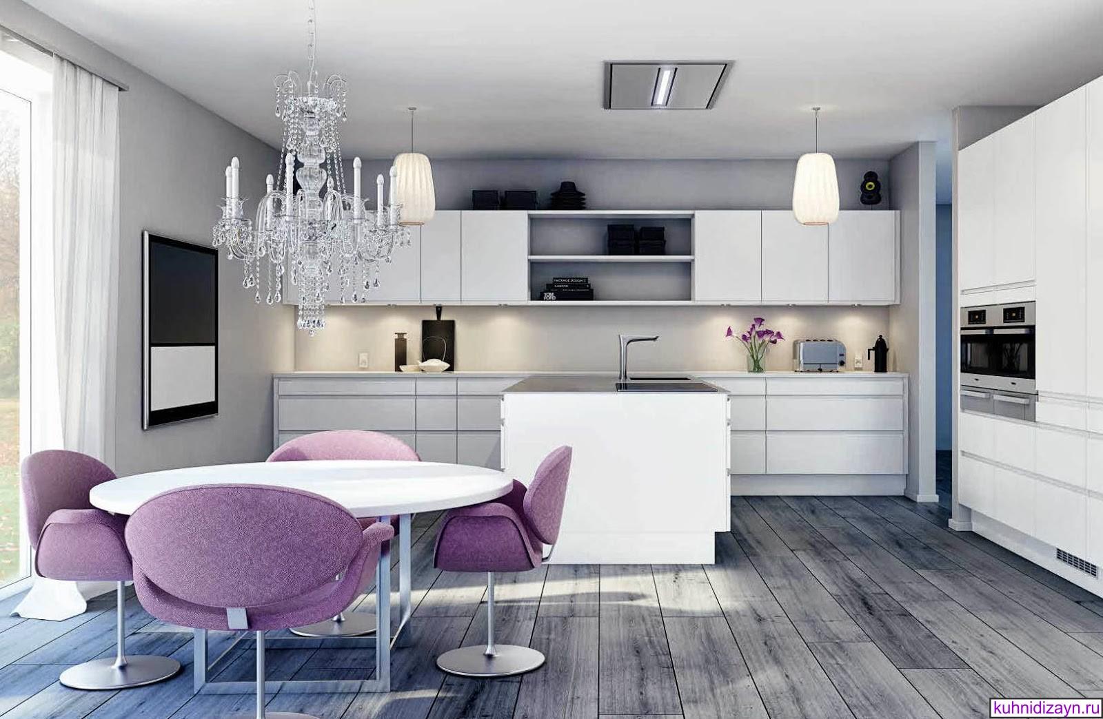 современная белая кухня, современные кухни фото, кухня в белом цвете фото, дизайн современной белой кухни