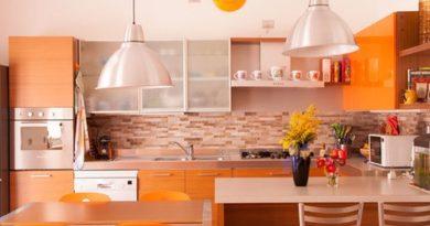 100 фото оранжевой кухни